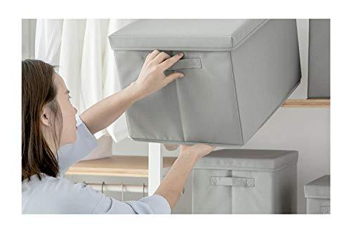 Terilizi opvouwbare stof opbergdoos kubus Bins doek organisator doos met deksel huis spullen opslag container met handvat
