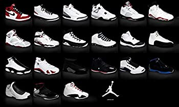 Jordan Brand Sneakers Collection Poster 1-23 24x36 inches This is a Certified Print with Holographic Sequential Numbering for Authenticity.