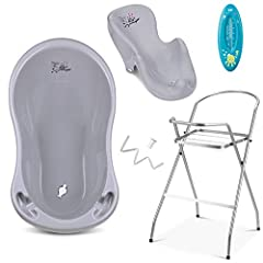 Baignoire bébé avec structure et siège de baignoire - Ensembles divers pour les bébés-nés avec baignoire pour bébé + support + sortie + baignoire - Baignoire pour bébé avec support