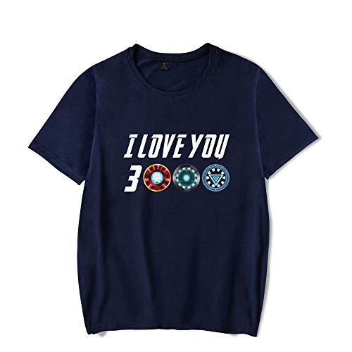 Te Amo 3000 Tres mil Veces Tony Stark Camiseta de impresión Blusa de Manga Corta para Hombres y Mujeres