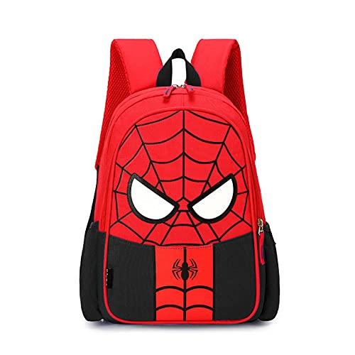 Hflyy Mochilas Niños Spiderman Mochilas para Niños Mochilas para Estudiantes De Niños Kit De Almuerzo Escolar Mochilas Mochila Impermeable Al Aire Libre Bolsos Diseño De Anime,Black-22 * 11 * 31cm