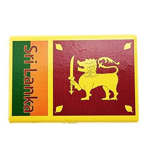 Weekino Flagge Sri Lanka Kühlschrankmagnet 3D Polyresin Touristische Stadtreise City Souvenir Collection Geschenk Starker Kühlschrank Aufkleber