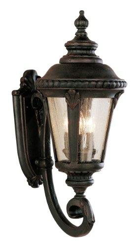 Trans Globe Imports 5041 RT Traditional Three Light Wall Lantern from Commons Collection in Bronze / Dark Finish,