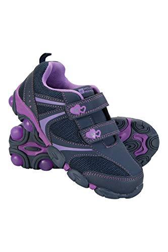 Mountain Warehouse Light Up Kids Hiking Shoes - Summer Walking Shoes Purple Kids Shoe Size 12 US