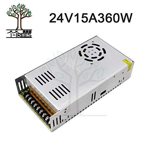 AiCheaX - Mejor Precio 24V 15A 360W Fuente de alimentación conmutada regulada Universal para CCTV Led Radio Impresora 3D Piezas 24V15A