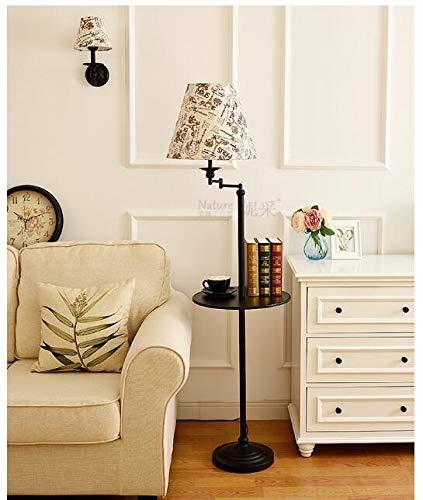 XUSHEN-HU Stehlampe Wohnzimmer Schlafzimmer Einfache Lagerung Vertikaler Couchtisch Tablett Fernbedienung Dekorative Lampe Modern (Lampenschirm-Farbe: 6)
