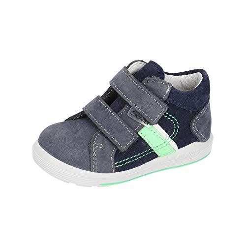 RICOSTA Jungen Lauflern Schuhe LAIF von Pepino, Weite: Mittel (WMS),wasserfest, verspielt detailreich Freizeit leger mit Kids,Nautic,26 EU / 8 Child UK