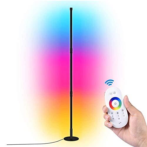 JAKROO Dimmbar RGB Stehlampe, Mit Fernbedienung Modern LED Stehleuchte für Wohnzimmer Schlafzimmer Ecke, Farbtemperaturen Und Helligkeit Einstellbar Standleuchte