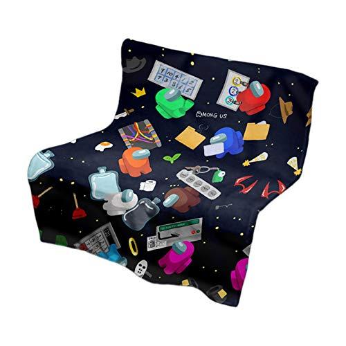 Among Us - Manta de tiro de lujo liviana, manta de felpa de microfibra con forro polar en abanico, manta de felpa súper suave para sofá cama para todas las estaciones, estilo múltiple, tamaño