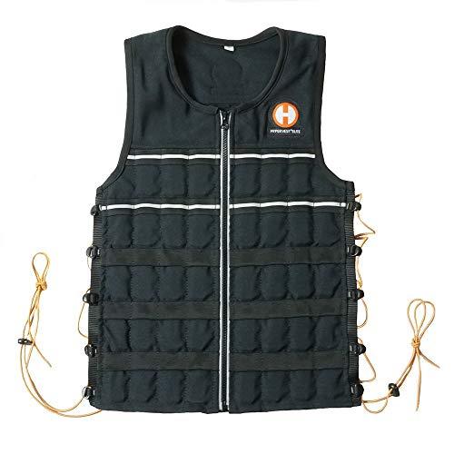 Hyperwear Hyper chaleco Elite 15lbs/kg (peso ajustable chaleco para hombres o mujeres con Tela de Cordura resistente, borde y cordón elástico para un ajuste perfecto de cordones laterales, XL