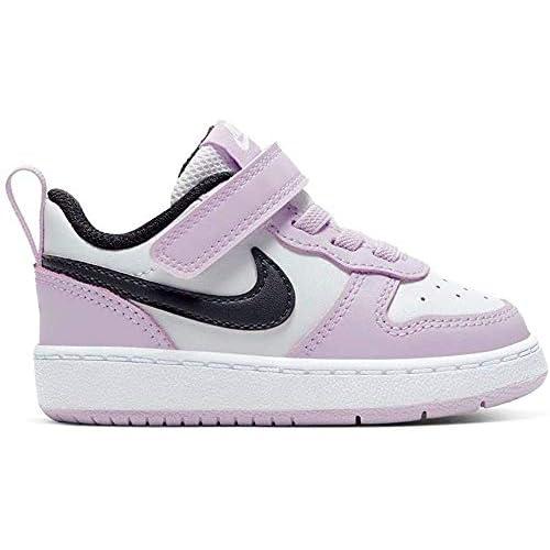 Nike Court Borough Low 2 (TDV), Scarpe da Basket Unisex-Bambini, Photon Dust/off Noir-Ice Lilac-White, 26 EU