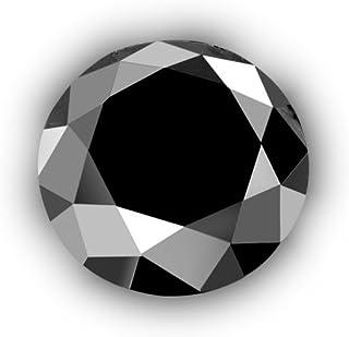 Black Diamond Round-Cut Loose Diamond Enhanced Tester Positive Gift Box Earth-mined Natural 0.02 ct 1.80 mm