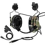 TAC-SKY Tactical Headset Comta II COMTA III Noise Reduction Sound Pick Up for Airsoft Activities Multicam (C3 HELMET MOUNT)