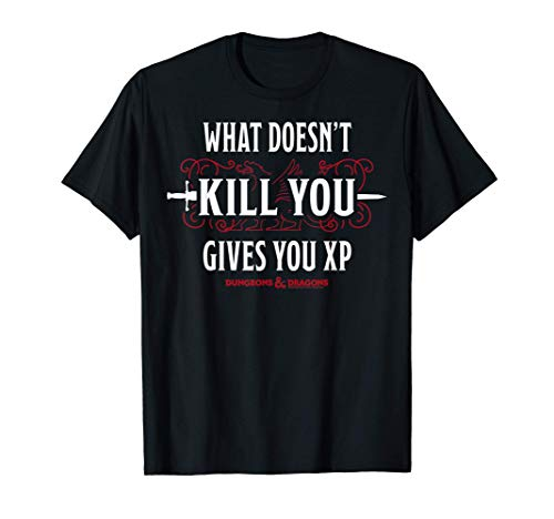 Dungeons & Dragons What Doesn t Kill You Gives You XP T-Shirt