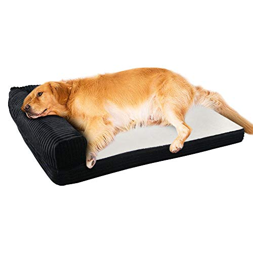 Pet Bed Sofa, Dog Beds for Medium Dogs Washable, Pillow Dog Bed Soft, Orthopedic Dog Beds for Large Dogs, Indoor Outdoor Pet Bed Waterproof - Black L Review