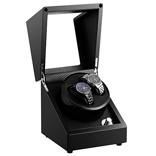 Automatic Double Watch Winder Box Luxury Wooden Storage Case for Automatic Mechanical Watch