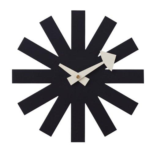 ジョージネルソン アスタリスククロック【CW07 ブラック】時計 掛け時計 デザイナーズクロック 壁掛け時計 リプロダクト
