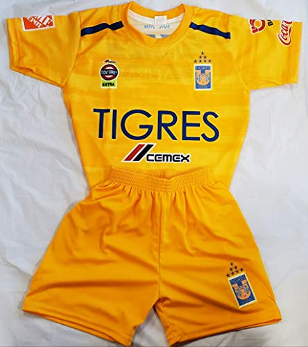 New! UANL Tigres Generic Replica Short and Jersey Size 8 (7-8 Years)