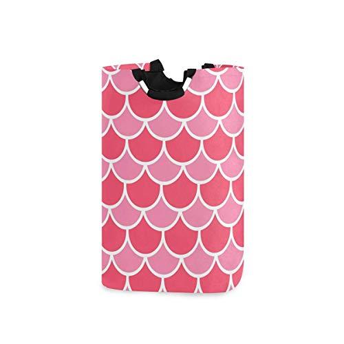N\A Wäschekorb Clipart Jakobsmuschel Muster Großer Korb Faltbare Tasche für schmutzige Kleidung Organizer Wäschesack Picknickkörbe Print Toy Gift Organizer