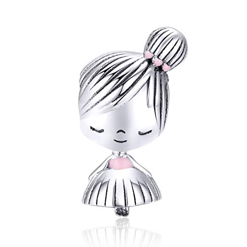 GDDX 925 Sterling Silver Girl Charms Beads Jewelry fits Charms Bracelet and Necklace