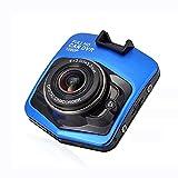 Braceletlxy Dash CAM Cámara de automóviles, grabadora de Video de la cámara del DVR del automóvil de 720p, Mini 2.4'Pantalla HD 170 Grade ANGULANDO con GRABACIÓN DE LABRICA,Azul