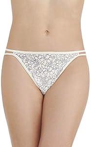 Vanity Fair Illumination String Bikini Panty 18108 Estilo Ropa Interior, Estampado Tranquil Lace, L para Mujer