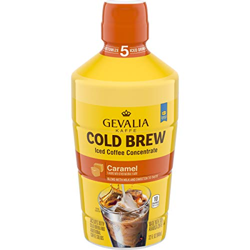 Gevalia Cold Brew Caramel Concentrate Iced Coffee (32 fl oz Bottle)