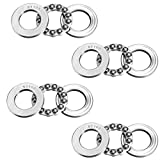 L-A 51103 Thrust Ball Bearings 17mm x 30mm x 9mm Bearing Steel Single Row Roller (4 Pcs)