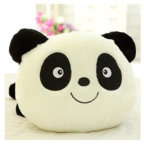 Jouet en Peluche Grosse Tête Panda Panda Poupée en Noir Et Blanc en Peluche d'ours Hyococ (Color : Big Eyes Smile, Size : 45CM)
