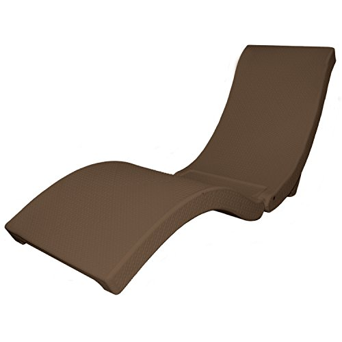 SwimWays 13400 Terra Sol Sonoma Chaise Pool Lounge, Chocolate Brown
