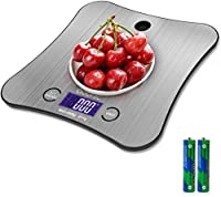 adoric - bilancia da cucina elettronica, bilancia di precisione, 5 kg/1 g, in acciaio inossidabile sensibile al tatto, schermo lcd a forma di farfalla
