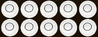 Ten 11.6MM x 6.1MM Discバブルスピリットレベルラウンド円形円ホワイト三脚新しい