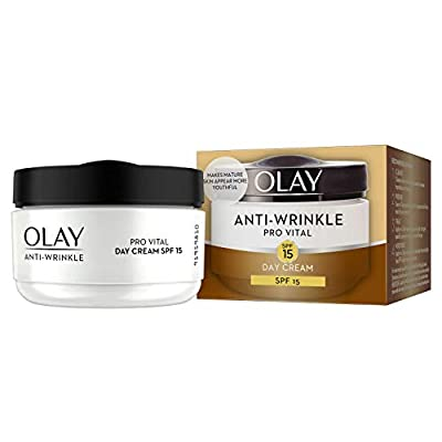 Olay Anti-Wrinkle Pro Vital Anti-Ageing Day Moisturiser SPF15 50ml - Pack of 4