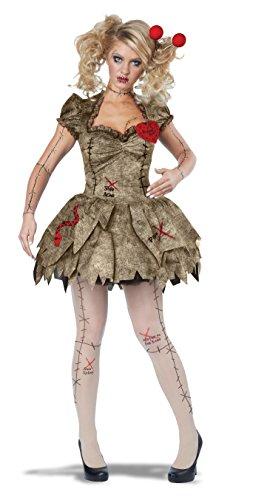 Disfraz de muñeca vudú para mujer