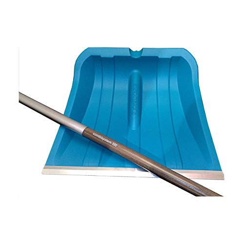 Gardena Schneeschieber, Combisystem Alu 40 ohne Stiel Schneeschippe, 42 x 42 x 55 cm, Blau, 03242-24