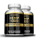 iVitamins Hemp Oil Capsules : 2 Pack 1,000mg per Serving : May Help with Sleep, Pain, Insomnia, Stress Relief, Mood Support and More : Rich in Omega 3,6,9 Fatty Acids : Hemp Oil : Hemp Extract