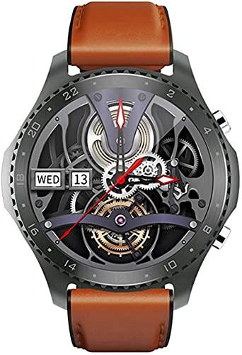 X&Z-XAOY Relojes Inteligentes para Hombres De Negocios Temperatura Corporal En Tiempo Real Pulsera De Llamada De Voz Bluetooth Bandas De Reloj Inteligente con Música Deportiva Impermeable