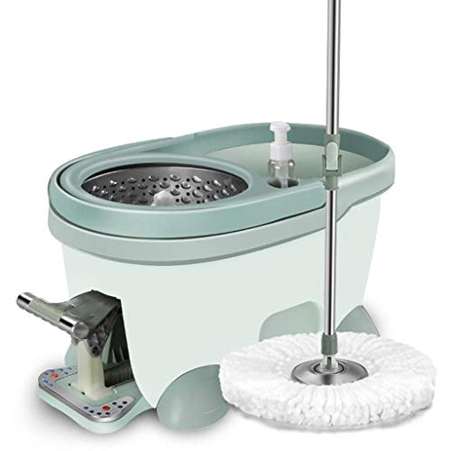 XYSQWZ Mops For Floor Cleaning Microfiber Spin Mop And Foot Pedal Bucket Setwashable Rotating Mop Padsextended Length Stainless Steel Handle