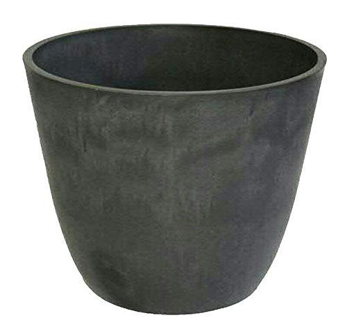 Großer Pflanzkübel/Kübel zum Bepflanzen – Runder Blumenkübel - Kunststoff/Kunststoffkübel - Winterfest (Ø 41cm, Anthrazit)
