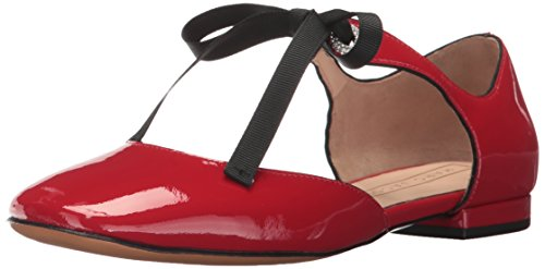 Marc Jacobs Women's Alyssa Mary Jane Ballerina Ballet Flat, Red, 38.5 M EU (8.5 US)