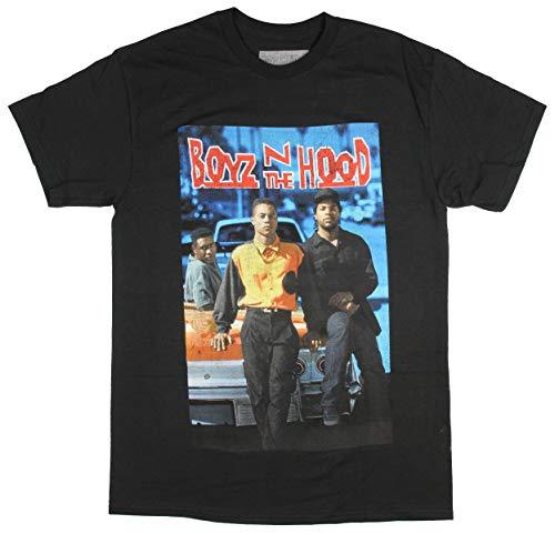 Hybrid Boyz N The Hood Men's VHS Cover Print Doughboy TRE Styles Ricky T-Shirt (2X-Large) Black