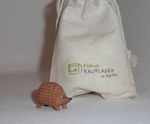 Lotte Sievers-Hahn Igel groß mit Baumwollbeutel Krippenfigur