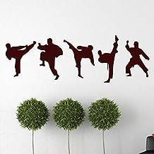 Kids Muur Creatieve Taekwondo Muurstickers Persoonlijkheid Stickers Roze 635 Bruin
