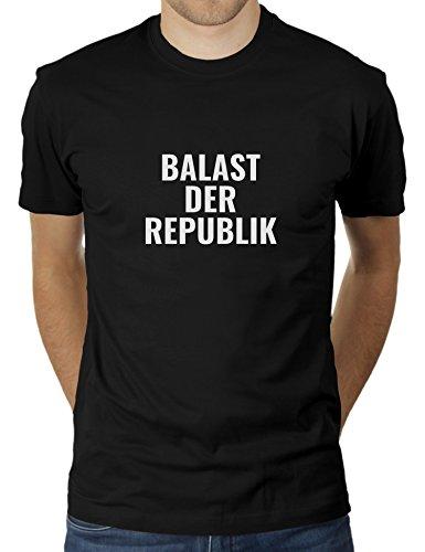 Balast der Republik - Im Land der Richter, Dichter und Aktenvernichter - Herren T-Shirt von KaterLikoli, Gr. XL, Deep Black