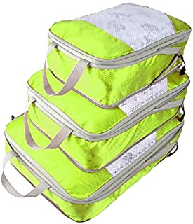 Generic Nylon Large Waterproof Mesh Travel Bag Organize Compression Packing Cube Travel Luggage Organizer: 2,