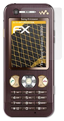 atFolix Panzerfolie kompatibel mit Sony-Ericsson W890i Schutzfolie, entspiegelnde & stoßdämpfende FX Folie (3X)