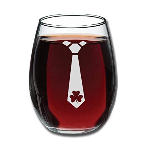 Copa de vino belga con grabado personalizado para el día de San Patricio sin tallo, perfecta para esposa, mujer, amigas, compañeras, clientes, aniversario, pareja para Navidad, color blanco 350 ml
