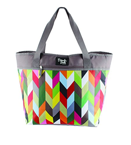 French Bull Large Tote Bag - Insulated, Women, Girl, Lunch, Purse, Picnic - Ziggy