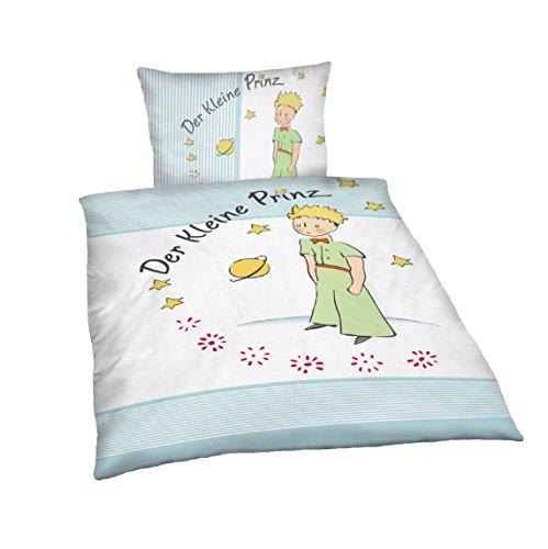 süße Kinderbettwäsche Kinder Bettwäsche Der kleine Prinz 100x135 Jungen Mädchen Wendebettwäsche Kinder-Bettwäsche hochwertige Baumwolle Reißverschluss