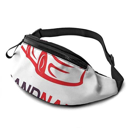 Wondihao Plantilla de diseño de logotipo automotriz, unisex, para correr, cintura informal